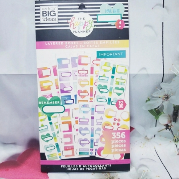 The Happy Planner Other - Layered Boxes Sticker Book The Happy Planner New